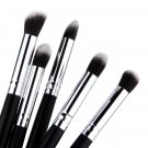 5 pcs Silver Black Soft Synthetic Small Blending Foundation Concealer Brush FE