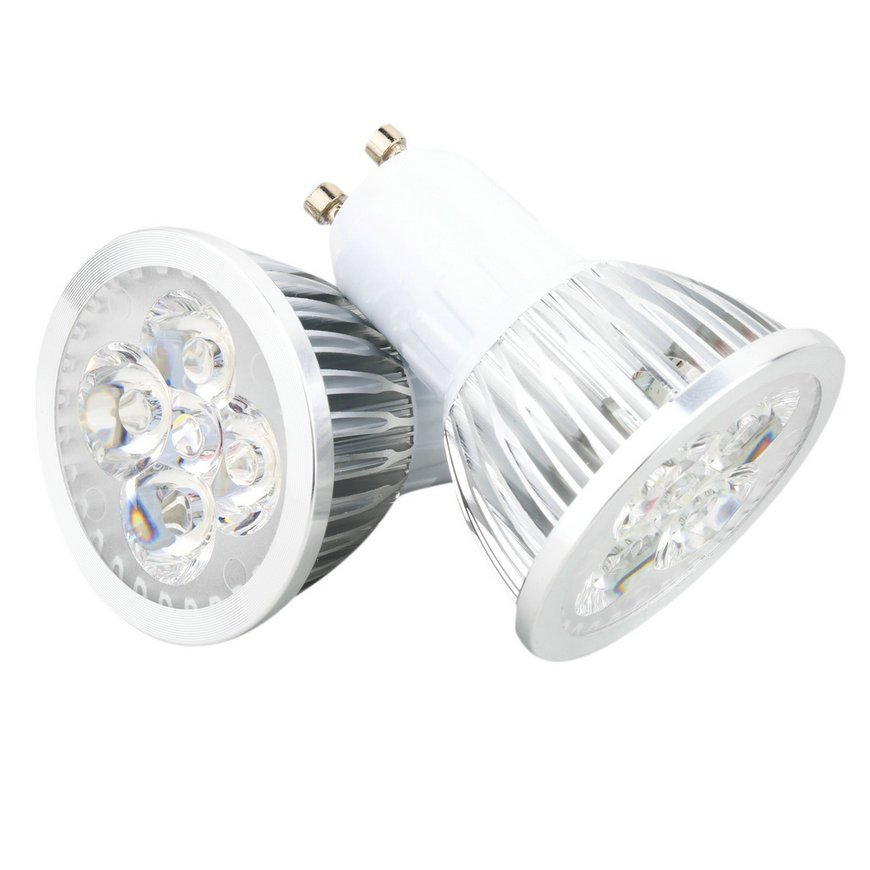 6W 4LED GU10 Spotlight LED Downlight Lamp Bulb Spot Light Pure White New FE