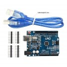 NEW ATmega328P CH340G UNO R3 Board & USB Cable +7 Gilded Pin for Arduino DIY FUS