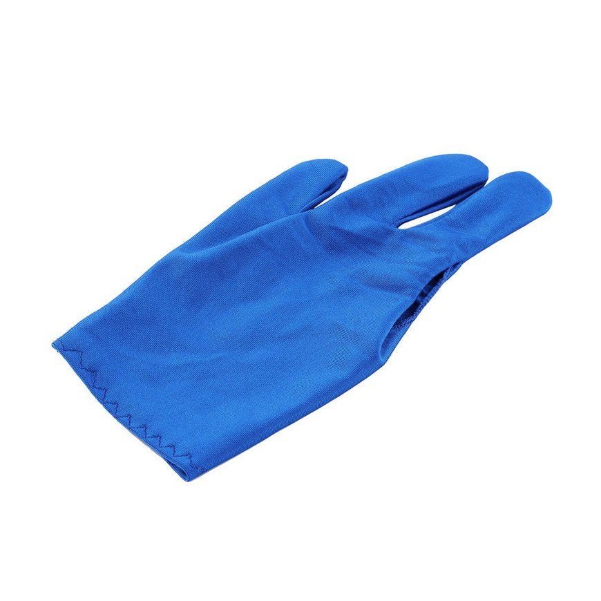 Hot 1 Pair Spandex Snooker Billiard Cue Glove Pool Three Finger Accessory FE