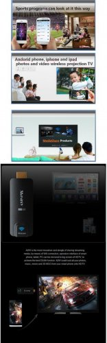 New A2W Miracast TV AirPlay Dongle DLAN Airplay EZCast HDMI WIFI FE