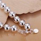 Fashion Unisex Silver Plating Hollow Round Beads Bracelet Bangle Jewelry FE