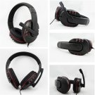 Wired 3.5mm Headset Headphone Earphone Music Microphone For PS4 Game PC Chat FE