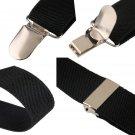 Unisex Adjustable Y-back Suspender Brace Men Ladies Elastic Clip-on Belt FE