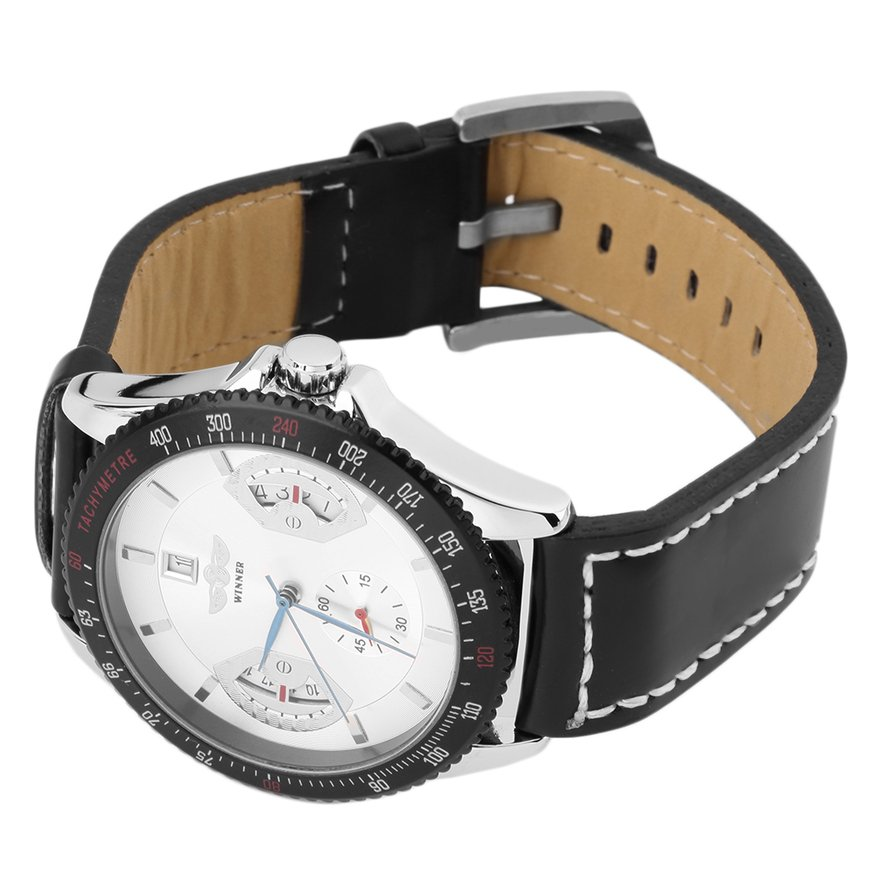 Luxury Men Gentleman Automatic Mechanical Calendar Date Sports Wrist Watches FE