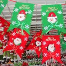 6 pcs 2.2m Christmas Flag for Christmas Tree Window Home Ornaments Decoration FE