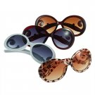 Womens Retro Inspired Baroque Round Sunglasses Sun Glasses with Swirl Arms FE