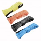 1/4'' x 50' Synthetic Winch Line Cable Rope for Auto Car Recovery Traction FE