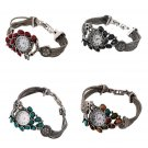 Beautiful Colorful Peacock Shape Watch with Diamond Bracelet Style Watch FE