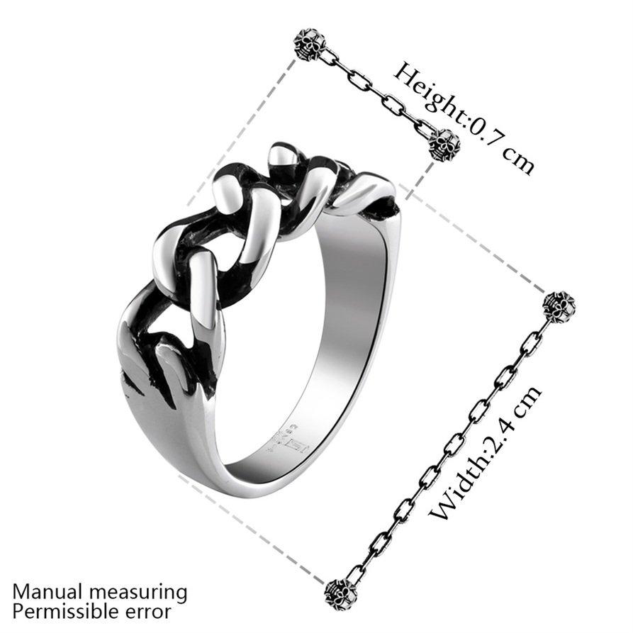 Vintage 316L Stainless Steel Twist Design Ring Wide Band Finger Ring Size 8 FE