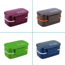 Portable 2 Layers Bento Lunch Box Plastic Food Container Lunch Container DF