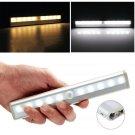 10 LED Bright PIR Motion Sensor Light Cabinet Wardrobe Drawer Lamp Bulb FE