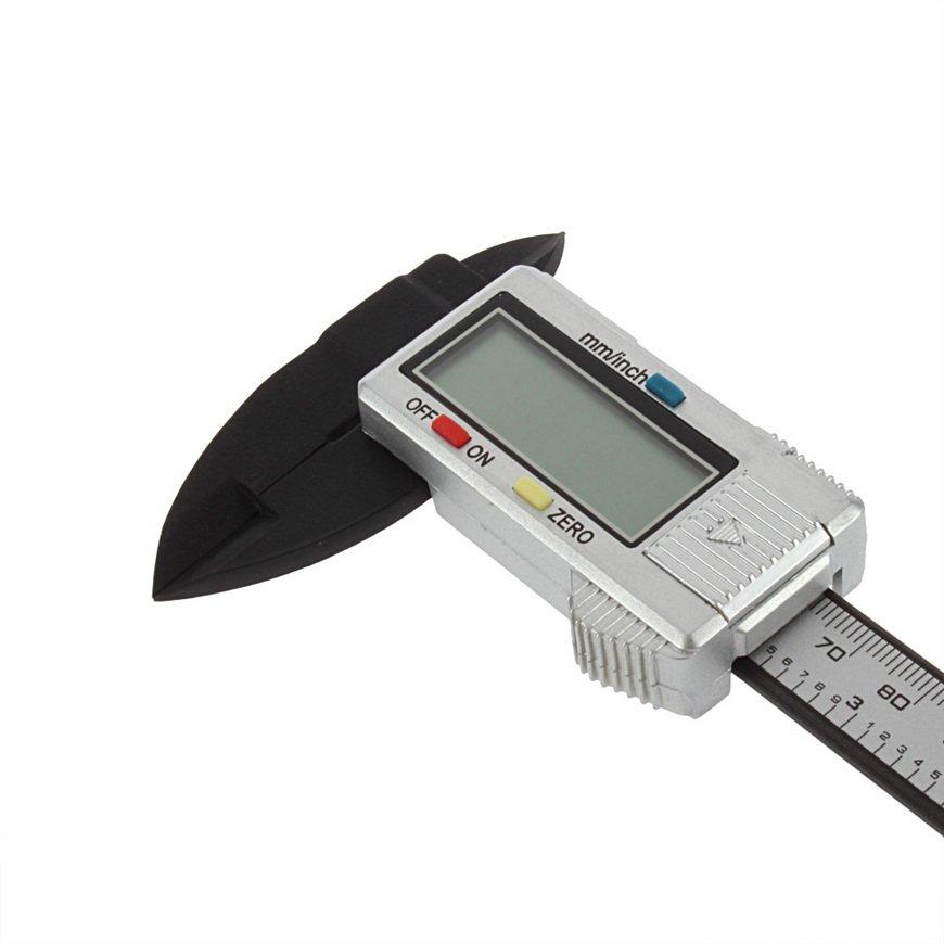 6 inch 150 mm Carbon Fiber Composite Vernier Digital Electronic Caliper RulerCAF