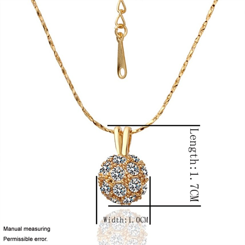 Simple Exquisite Round Shaped Alloy Golden Pendent Necklace for Gift FE