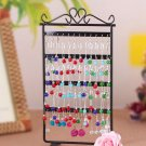 48 Hole Earrings Ear Studs Jewelry Display Rack Metal Stand Holder Showcase FFE