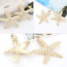 Fashion Cute Full Pearl Starfish Design Beach Style Earrings Ear Hook Jewelry FE