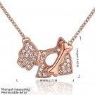 Zircon Lovely Animal Shaped Fashion Design Tin Alloy Rose Golden Necklace FE