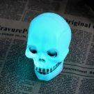 Halloween Colorful Flash LED Skull Night Light Lamp Decoration Gift Favor FE