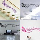 Beautiful Butterfly Music Note Vinyl Art Wall Stickers Home Wall Decals  FE