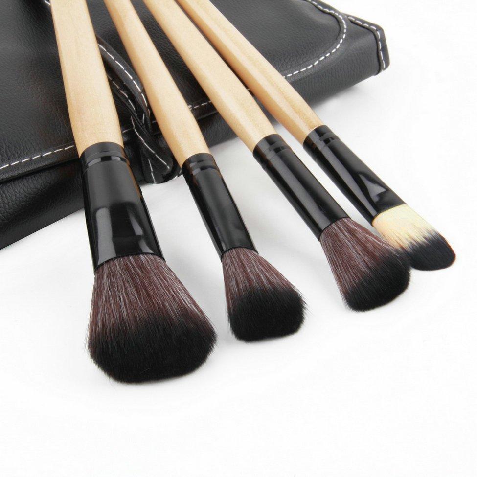 Pro 24 Pcs Makeup Brush Cosmetic Tool Kit Eyeshadow Powder Brush Set + Case FE