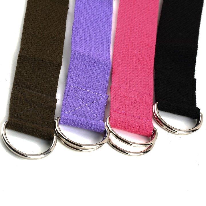 "HOT!Yoga Stretch Strap 67"" 6FT D-Ring Belt Figure Waist Leg Fitness Exercise Gym"