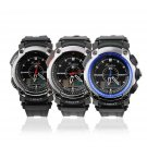Double Movement Sports Leather Wrist Watches Waterproof Multifunctional FE