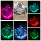 New Fairy Tail Anime Crystal LED Light Charm Key Chain Key Ring Cosplay 1PC GP