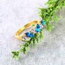 Vintage Dazzling Crystal Imitation Emerald Rhinestone Elegant Finger Ring FE