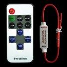 12V RF Wireless Remote Switch Controller Dimmer for Mini LED Strip Light New FE