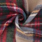 Women Oversized Blanket Tartan Scarf  Wrap Shawl Plaid Cozy Faux Cashmere FE