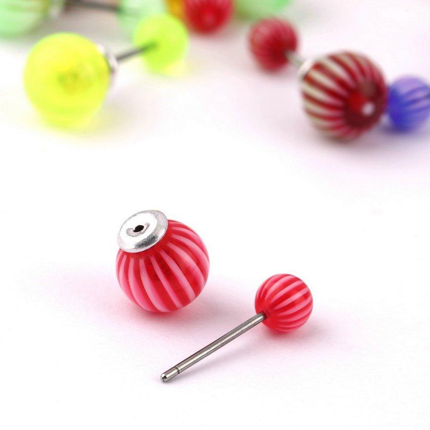 9 Pairs Mixed Color One Shape Earrings Women's Girls Beautiful Cute Earrings FE