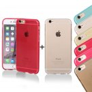 2x SOFT CASE COVER BACK FOR APPLE IPHONE 5S/6/6 PLUS SILICONE CLEAR/TRANSPARENT