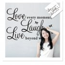 Love Every Moment Laugh Live PVC Wall Sticker Decals Mural Home Decor DIY FE