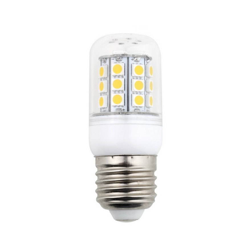 E27 5050 SMD 5W 30 LED Saving Corn Light Bulb Lamp Pure Warm White 220V
