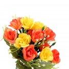 15 Heads Artificial Rose Plant Bouquet Flower Wedding Party Home Decor DIY FE