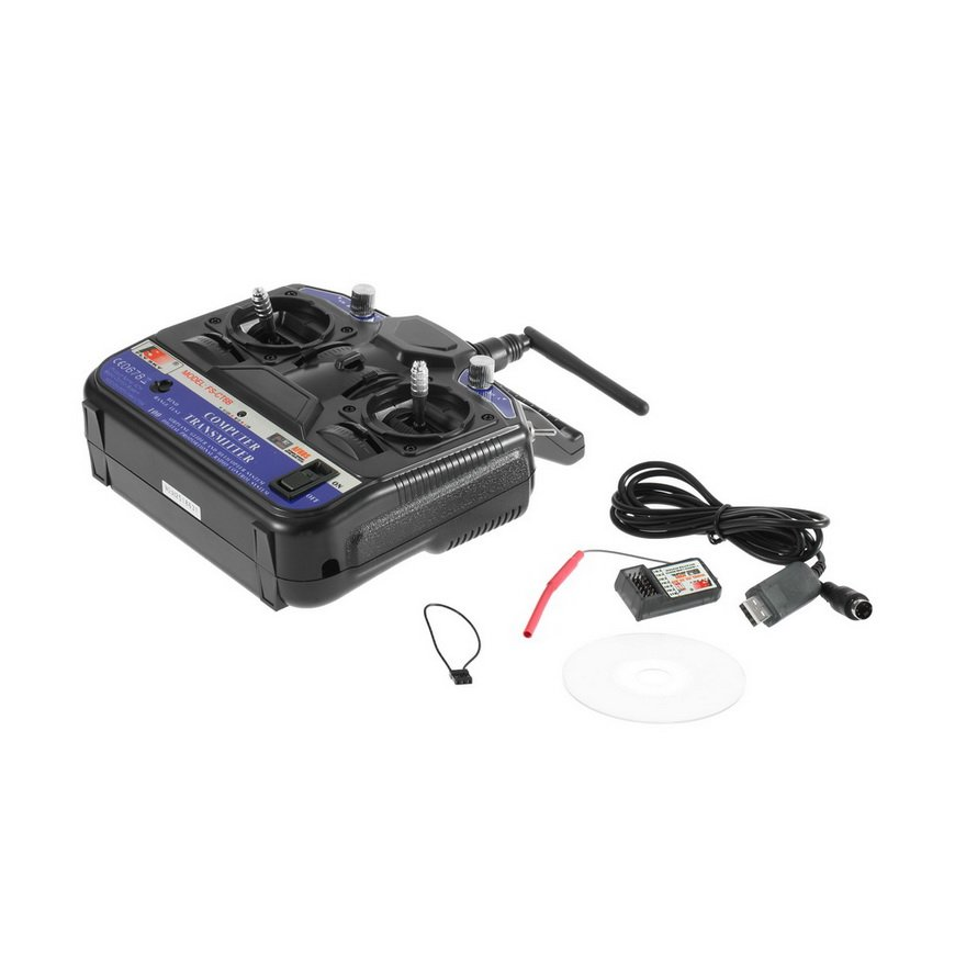 Flysky 2.4G FS-CT6B 6 Channel Radio Model RC Transmitter Receiver USB Cable Cont