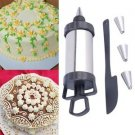 1 Icing Piping Cream Pastry + 2 Stainless Steel Nozzle + 1 Cake Spatula Blade FE