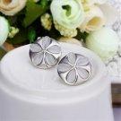 OL Women Elegant Platinum Plating Opal Flower Ear Studs Earrings Jewelry FE