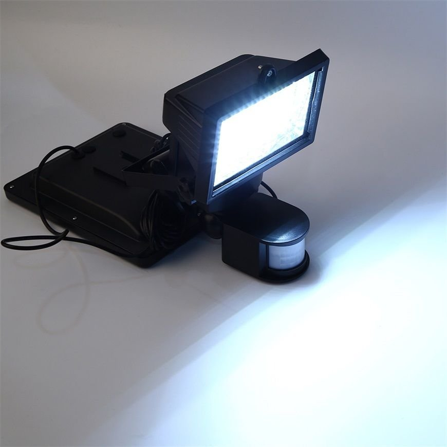 60 LED Solar Powered Floodlight/Spot Lamp&Mount Outdoor Home Yard Garden FE