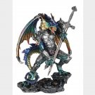 Large Blue Dragon With Armor & Sword