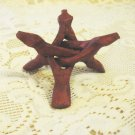 """Carved Wood Display Stand for Mineral Crystal Specimens, 3 legs, 3.5"""""""