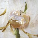 Mother of Pearl Shell Heart Blister Pearl Focal Bead, Hand Crafted 62mm