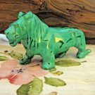 "African Malachite Lion, 4-1/2"" Carved Semi Precious Stone"