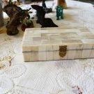 Handmade White Camel Bone Jewelry, Trinket Box 6-1/4 Inch