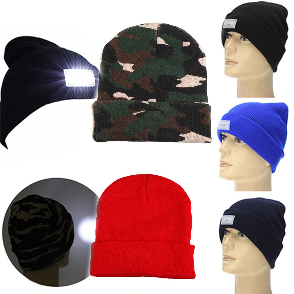 TOQUE/BEANIE With 5 LED lights - BLUE