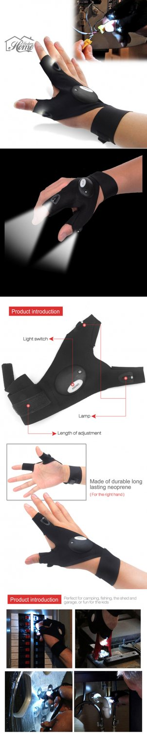 WORK GLOVE WITH LED LIGHTS-1 PAIR (1-L,1-R)