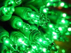 Roman Christmas Lights 100 Green Mini Lights