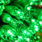 Roman Christmas Lights 50 Green Mini Lights