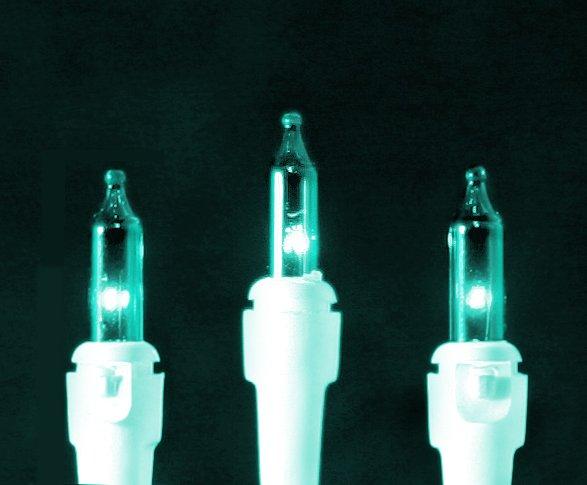 Roman Christmas Lights 50 Teal Mini Lights