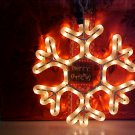 Snowflake Rope Light Sculpture